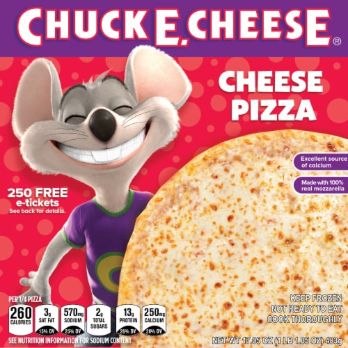 Chuck E. Cheese Cheese Frozen Pizza Perspective: front