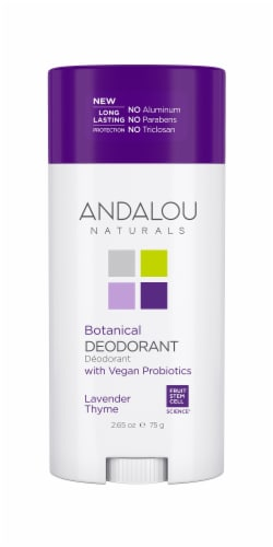 Andalou Naturals Lavender Thyme Botanical Deodorant Perspective: front