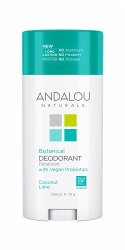 Andalou Naturals Coconut Lime Botanical Deodorant Perspective: front