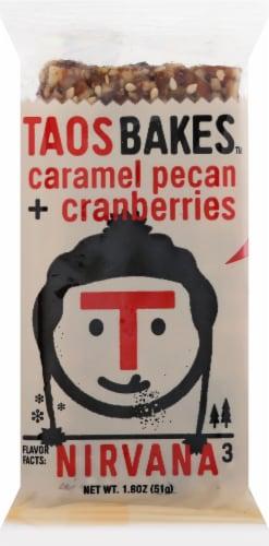 Taos Bakes Caramel Pecan & Cranberries Bar Perspective: front