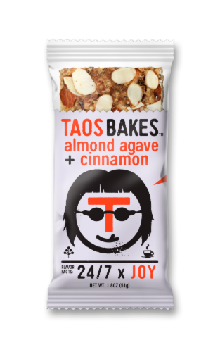 Taos Bakes Almond Agave & Cinnamon Bar Perspective: front