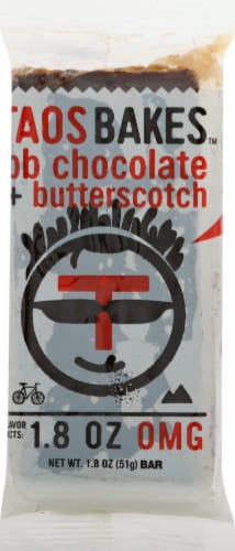 Taos Bakes PB Chocolate & Butterscotch Bar Perspective: front