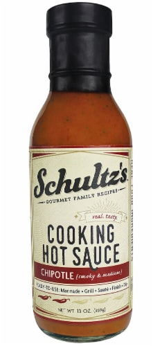 Schultz's Gourmet  Family Recipes Cooking Hot Sauce   Chipotle Perspective: front