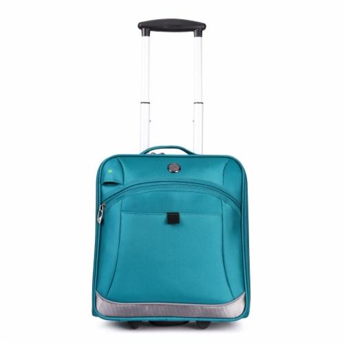 Swissdigital Basel Luggage - Teal Perspective: front