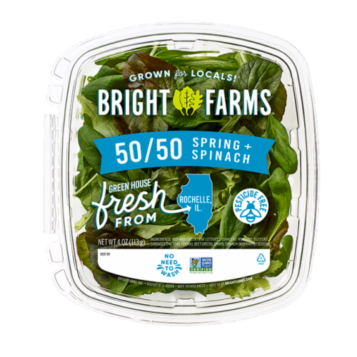 Bright Farms Spinach Blend Perspective: front