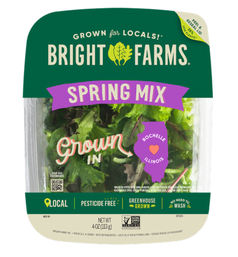 Bright Farms Spring Mix Perspective: front