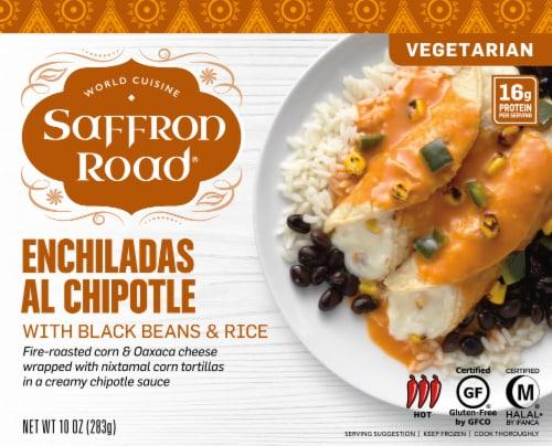 Saffron Road Enchiladas Al Chipotle Frozen Meal Perspective: front