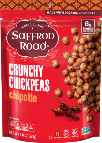 Saffron Road Chipotle Crunchy Chickpeas Perspective: front