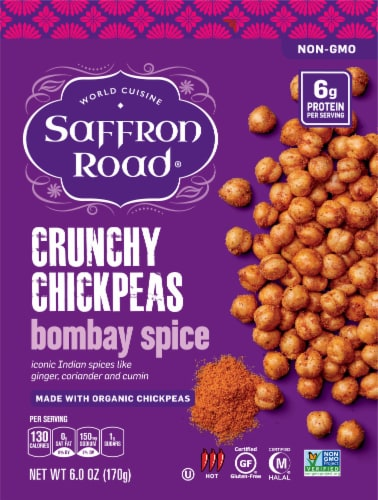 Saffron Road Bombay Spice Crunchy Chickpeas Perspective: front
