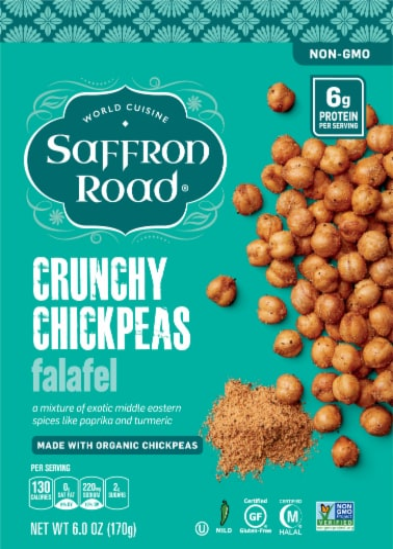 Saffron Road Falafel Chickpea Snack Perspective: front