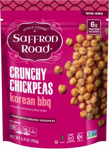 Saffron Road Organic Korean BBQ Crunchy Chickpeas Perspective: front