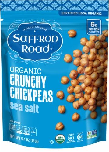 Saffron Road Organic Gluten Free Sea Salt Crunchy Chickpeas Perspective: front