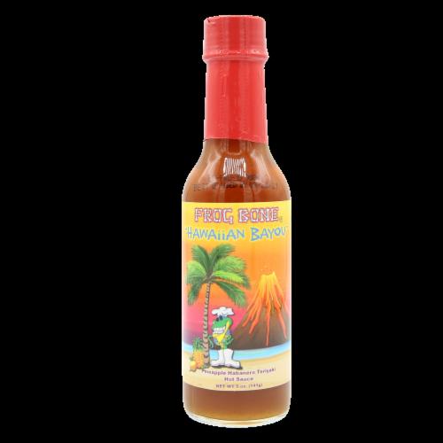 Frog Bone Hawaiian Bayou Pineapple Habanero Teriyaki Hot Sauce, 5oz Perspective: front