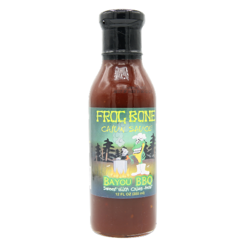 Frog Bone Bayou Sauces Multi-Pack (BBQ, Remoulade, Spanish Moss) - 12oz bottles Perspective: front