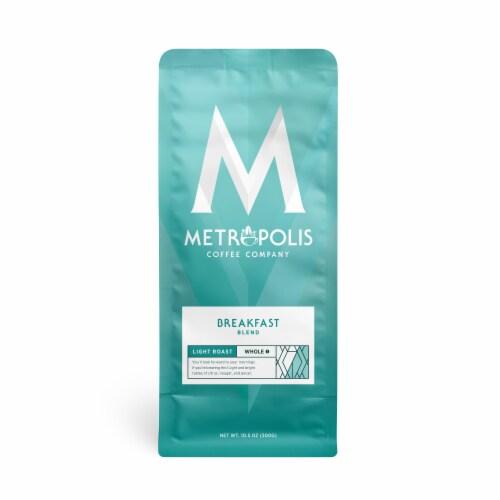 Metropolis Coffee Company Breakfast Blend Light Roast Whole Bean Coffee Perspective: front