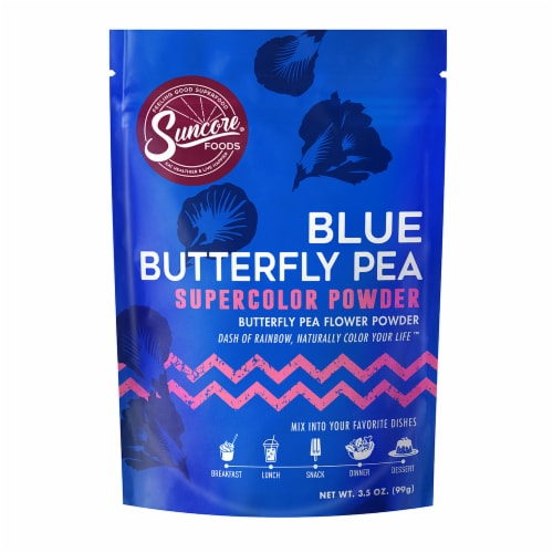 Suncore Foods Blue Butterfly Pea Flower Supercolor Powder Perspective: front