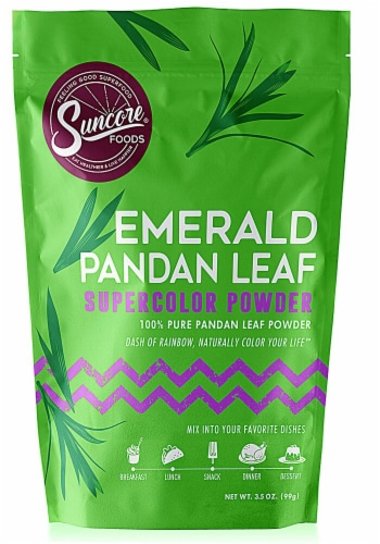 Suncore Foods Emerald Pandan Leaf Supercolor Powder Perspective: front