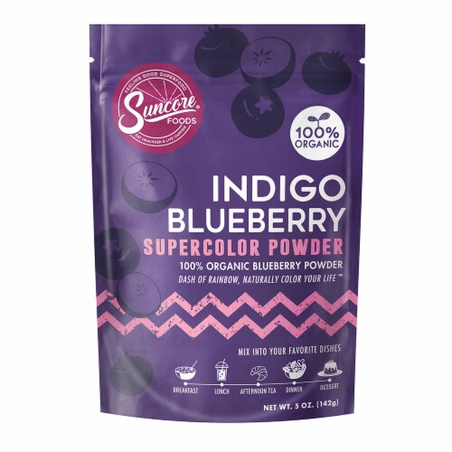 Suncore Foods Organic Indigo Blueberry Supercolor Powder Perspective: front