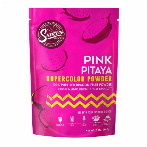 Suncore Foods Pink Pitaya Supercolor Powder Perspective: front