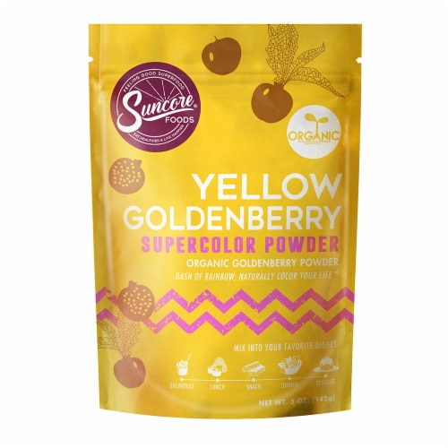Suncore Foods Organic Yellow Goldenberry Supercolor Powder Perspective: front