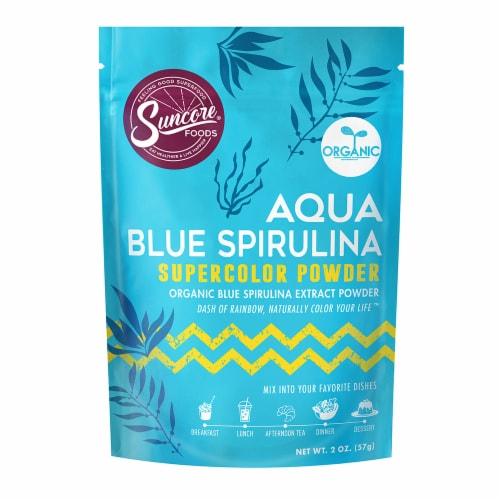 Suncore Foods Organic Aqua Blue Spirulina Supercolor Powder Perspective: front