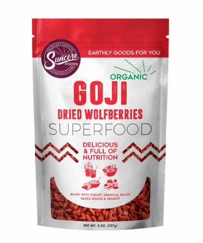 Suncore Foods Organic Goji Berries Perspective: front
