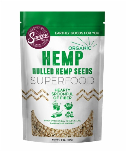 Suncore Foods Organic Hulled Hemp Seeds Perspective: front
