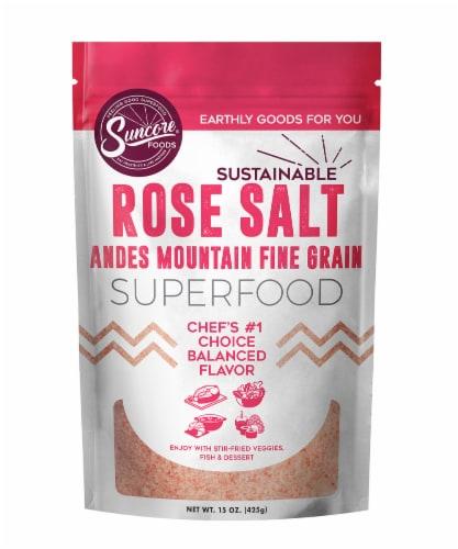 Suncore Foods Rose Salt Perspective: front
