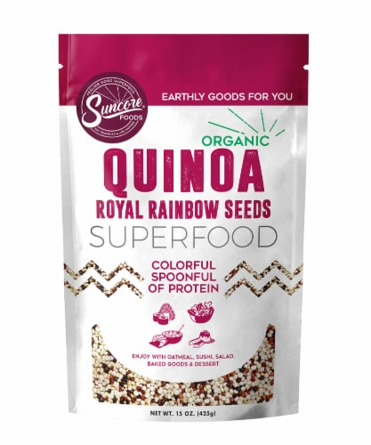Suncore Foods Organic Quinoa Royal Rainbow Seeds Perspective: front