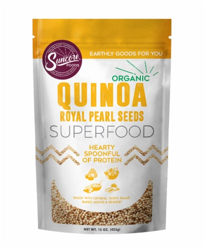 Suncore Foods Organic Quinoa Royal Pearl Seeds Perspective: front