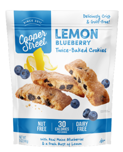 Cooper Street Lemon Blueberry Twice Baked Cookies Perspective: front
