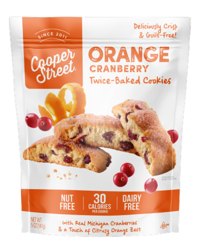 Cooper Street Orange Cranberry Twice Baked Cookies Perspective: front
