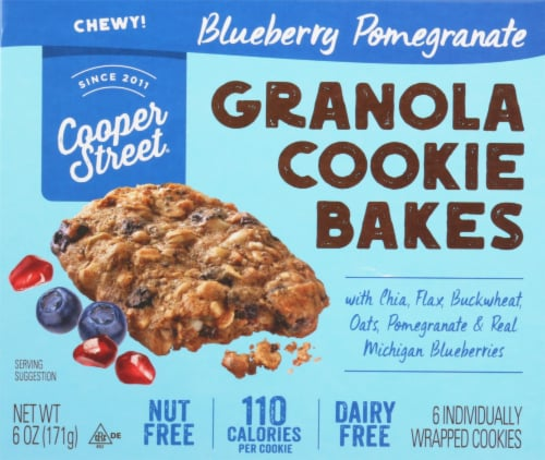 Cooper Street Blueberry Pomegranate Granola Cookie Bakes 6 Count Perspective: front