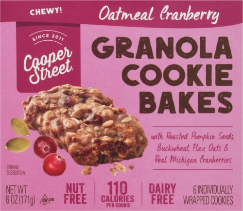 Cooper Street Oatmeal Cranberry Granola Cookie Bakes 6 Count Perspective: front