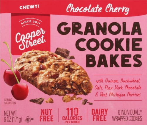 Cooper Street Chocolate Cherry Granola Cookie Bakes 6 Count Perspective: front