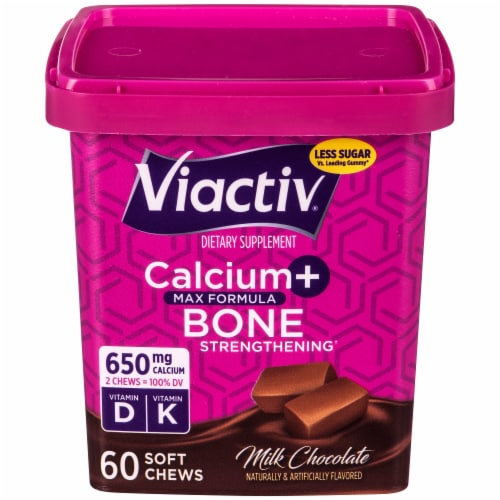 Viactiv Milk Chocolate Calcium Soft Chews Perspective: front