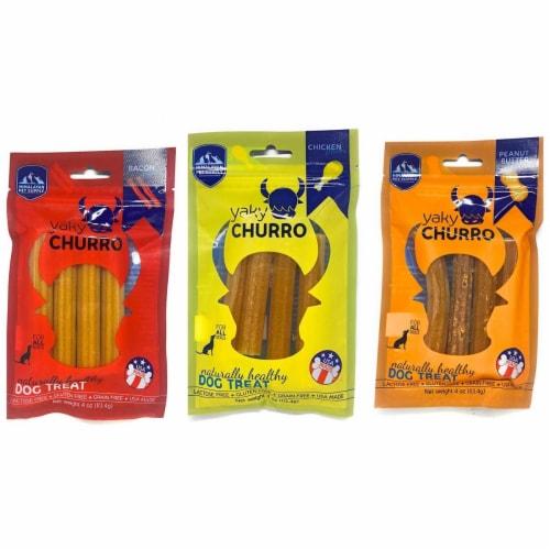 Himalayan Pet  Yaky Churro Dog Treats - Peanut Butter Perspective: front