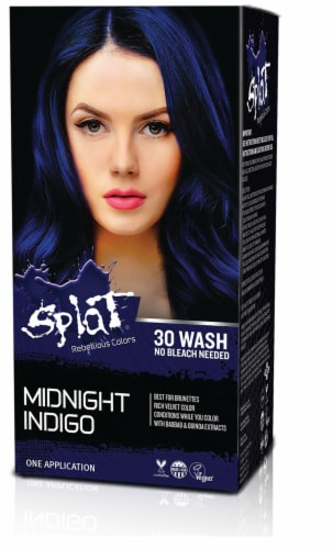 Splat Midnight Indigo Hair Color Perspective: front
