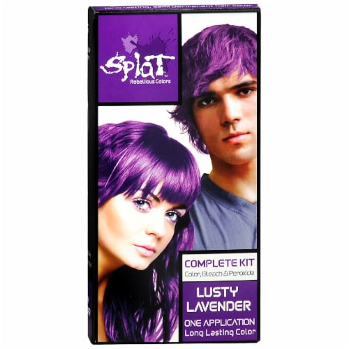 Splat Lusty Lavender Complete Hair Color Kit Perspective: front