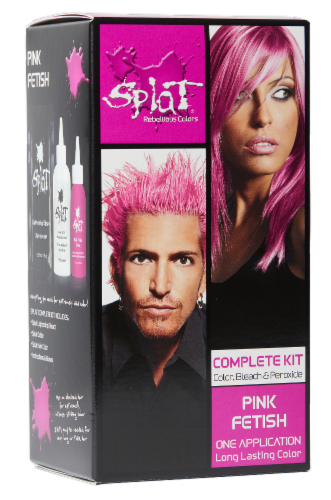 Splat Pink Fetish Complete Hair Color Kit Perspective: front