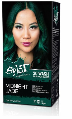 Splat Midnight Jade Hair Color Kit Perspective: front