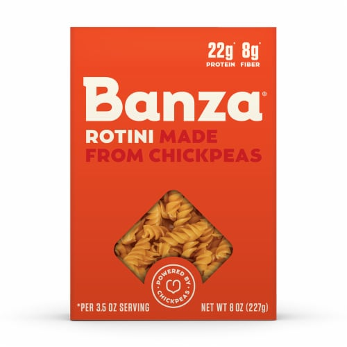 Banza Chickpea Rotini Pasta Perspective: front