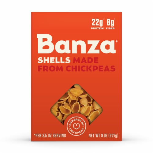Banza Chickpea Shell Pasta Perspective: front