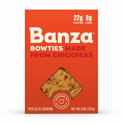 Banza Chickpea Bowties Pasta Perspective: front