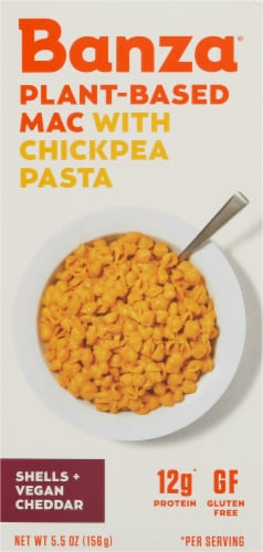 Banza Shells + Vegan Cheddar Plant-Based Chickpea Pasta Mac Perspective: front