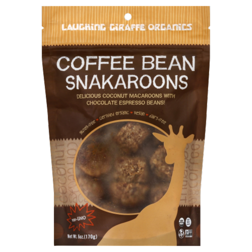 Laughing Giraffe Organics Coffee Bean Snackaroons Perspective: front