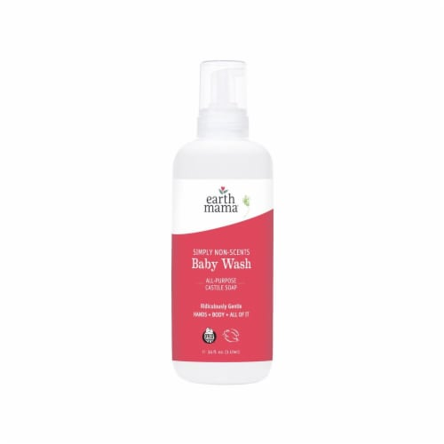 Earth Mama Natural Non-Scents Baby Wash Perspective: front