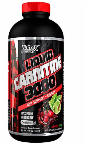Nutrex Research  Liquid Carnitine 3000 Maximum Strength   Cherry Lime Perspective: front