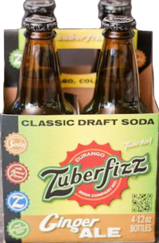 Zuberfizz Ginger Ale Perspective: front