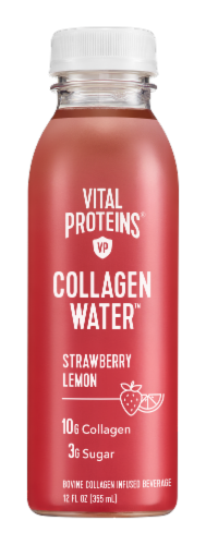 Vital Proteins Strawberry Lemon Collagen Water Perspective: front